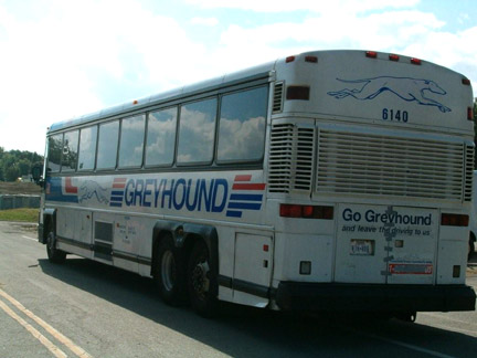 Greyhound Bus Lines provided and equipped a coach similar to this one ...