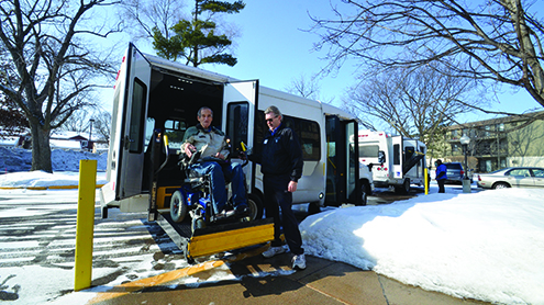Ron Biss, an advocate for accessible transportation and a wheelchair user, says the ride on paratransit can sometimes be rough.