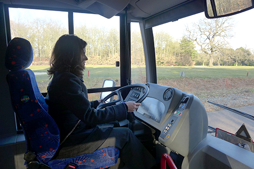 Jennifer McNeill, AD director of sales and business development, took the wheel at the test circuit in Chobham.