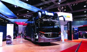 The world premiere of the Setra TopClass 500 family.