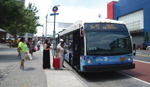 A Bx41 SBS bus at Fordham Road.