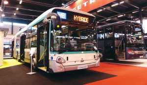 A Heuliez with BAE Systems hybrid drive for RATP, Paris.