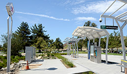 The California State University, San Bernardino sbX station serves as a model for other locations.