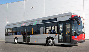 The 10,000th bus built by Solaris, an all-electric Urbino for Dusseldorf, Germany.