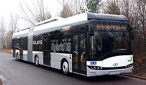 An Urbino 18 hybrid bus with Vossloh Kiepe system.