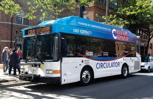 CBUS, a circulator system named for the city's favorite nickname, now serves downtown Columbus and adjacent neighborhoods.