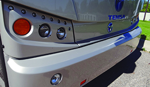 The Temsa TS 45 delivers on curb appeal.