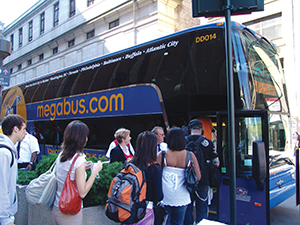 Megabus.com, a subsidiary of Coach USA, is one of the largest city-to-city express bus service providers in North America.
