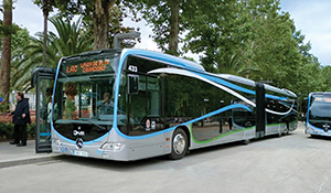 One of 15 CapaCity BRT buses delivered in July to Granada, Spain.