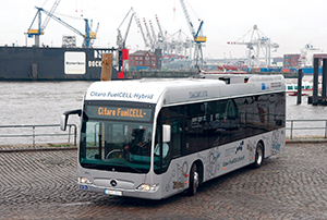 Hartmut Schick has long-term confidence in fuel cell buses.