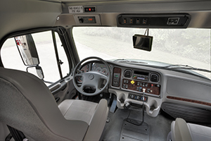 The M2 Vista features a driver-friendly cockpit and dash.