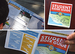 "The VCTC Teen Council developed a ""Student Rider Guide,"" providing information regarding transit options to and from educational institutions and popular youth destinations."