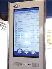 The CHK interactive kiosk works best for riders with time to explore their options.