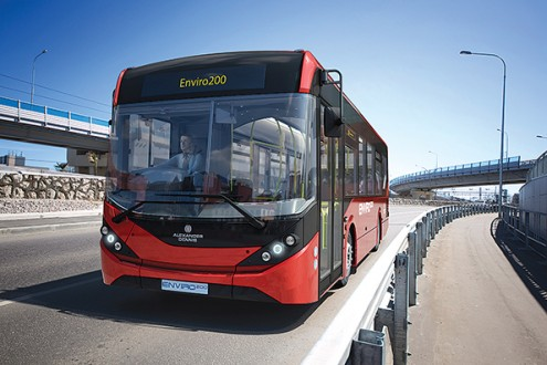 The new generation Alexander Dennis Enviro200 midibus.