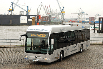 One of a fleet of Citaro FuelCELL-Hybrid buses in Hamburg.