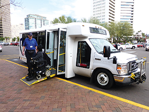 "The Equalizer Ramp® creates a flat entrance ""bridge"" into the 102-inch-wide flat passenger area, resulting in easier and faster loading for all passengers."