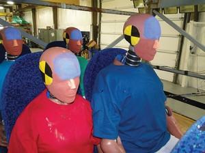 Test dummies prepare themselves