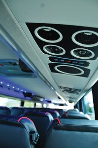 New passenger overhead multisets provide air and adjustable LED reading lights.
