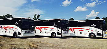 Huskey Trailways incorporated GPS fleet management into all of the company's 25 motorcoaches in 2013.