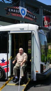 Marvin Rochelle, a longtime customer of Valley Metro Dial-A-Ride, was on-board to offer his observations and comments as a passenger with disabilities.