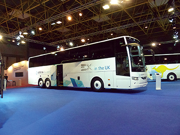 The new Van Hool EX, built in Macedonia.