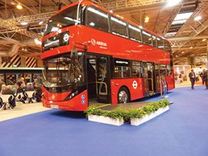 The latest Enviro400H City with the 5,000th BAE Systems hybrid drive.