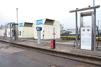 CNG presents cost, fuel and operational savings for transit agencies switching from diesel. Photo: Atlas Copco.