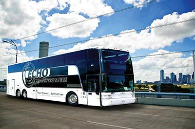 Echo Transportation's Van Hool TD925.