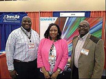 From left: Dinero Washington, general manager of SPORTRAN Shreveport Transit Management, Inc., Shreveport, LA; Youlanda  James, customer service manager of SPORTRAN; Mike Horbrook, system support engineer at Genfare.