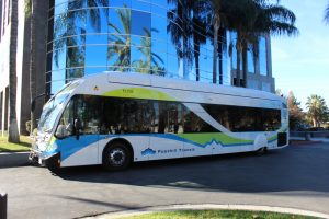 The San Gabriel Valley agency repainted 56 older buses with new livery to showcase its commitment to the environment and sustainable operations.