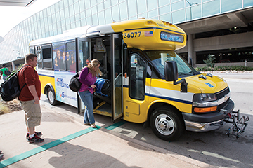 DART customers are commenting on the vehicles' convenience and comfort, and the fact that the neighborhood-friendly ARBOC buses fit better in their travel environment.