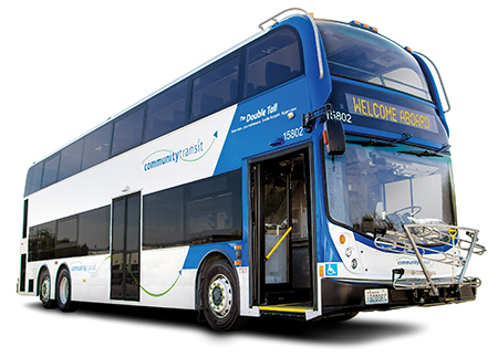 The Enviro500 has an overall height of 13.6 feet and length of 42 feet.