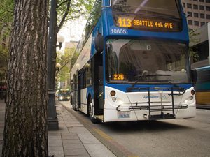 "Community Transit named its buses ""Double Talls"" in homage to Seattle's coffee culture."