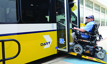 ARBOC's small low-floor bus provides all passengers faster, safer easy-on, easy-off access.
