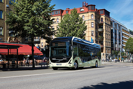 Three of these all-electric Volvo ElectriCity buses are running in Gothenburg.