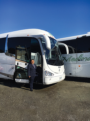 Fernando Medina, president of Medina Tours and Charters, is very impressed with the Irizar brand and aftermarket support from INA Bus Sales.