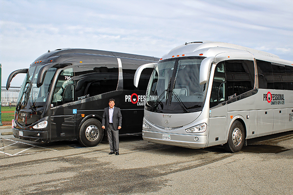 "Omar Orozco, president of Professional Charter Services, thought a ""bus was a bus"" until he discovered Irizar and INA Bus Sales."