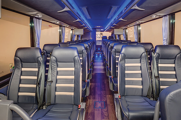 The 38-passenger TEMSA coaches are among the most utilized vehicles in Royal Excursion's fleet.