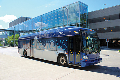 New Flyer's Xcelsior® 40-foot battery-electric bus