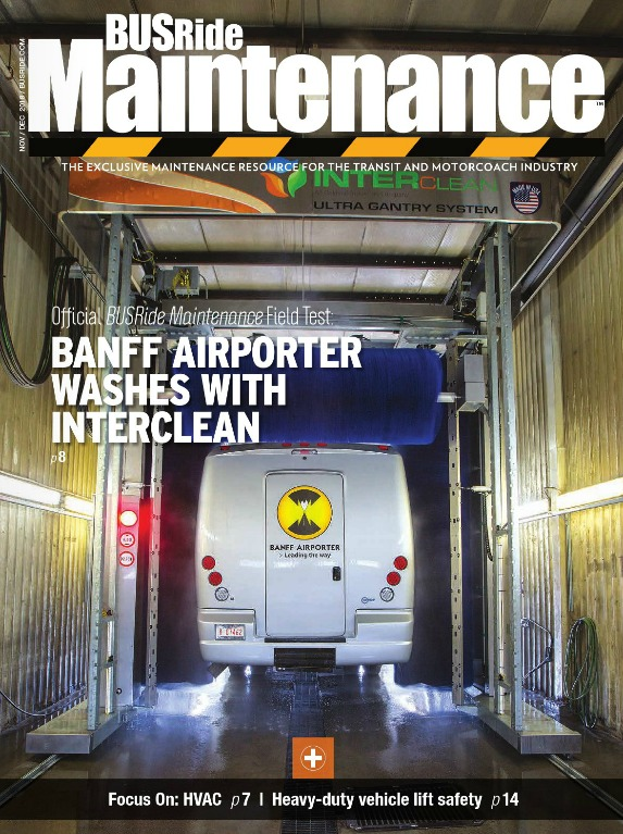 Banff Airporter washes with Interclean