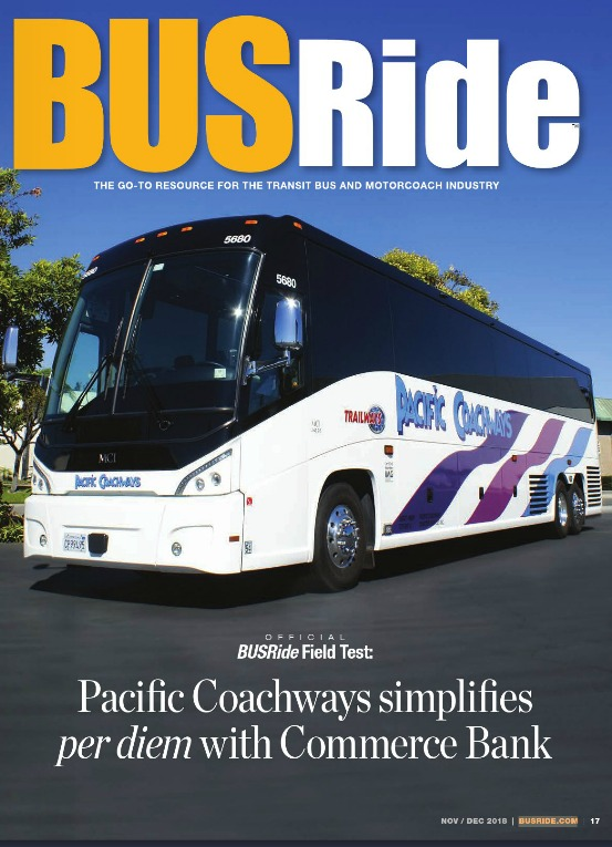 Pacific Coachways simplifies per diem with Commerce Bank