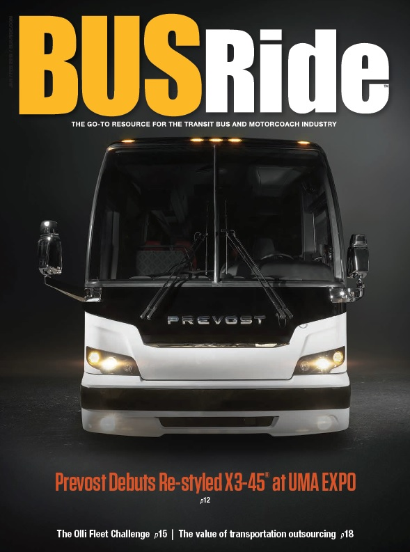 Prevost debuts re-styled X3-45 at UMA EXPO