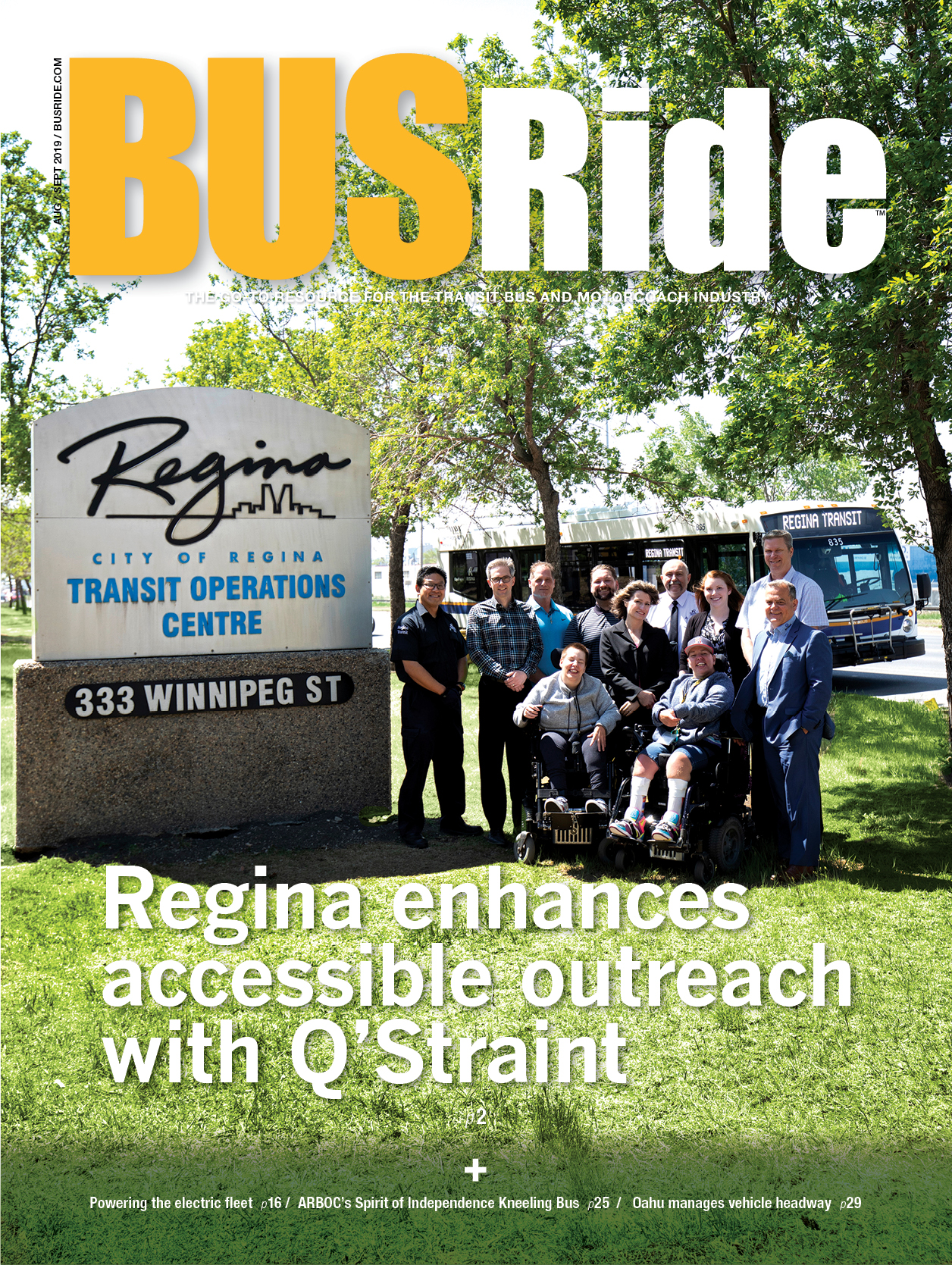 Regina enhances accessible transit with Q'Straint