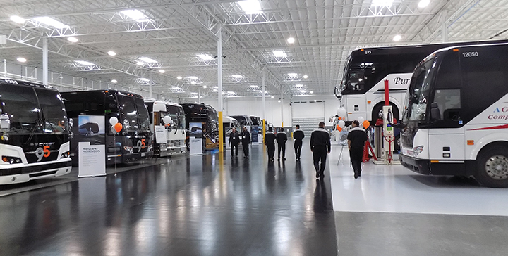 Prevost celebrates the opening of its largest North American service center in California