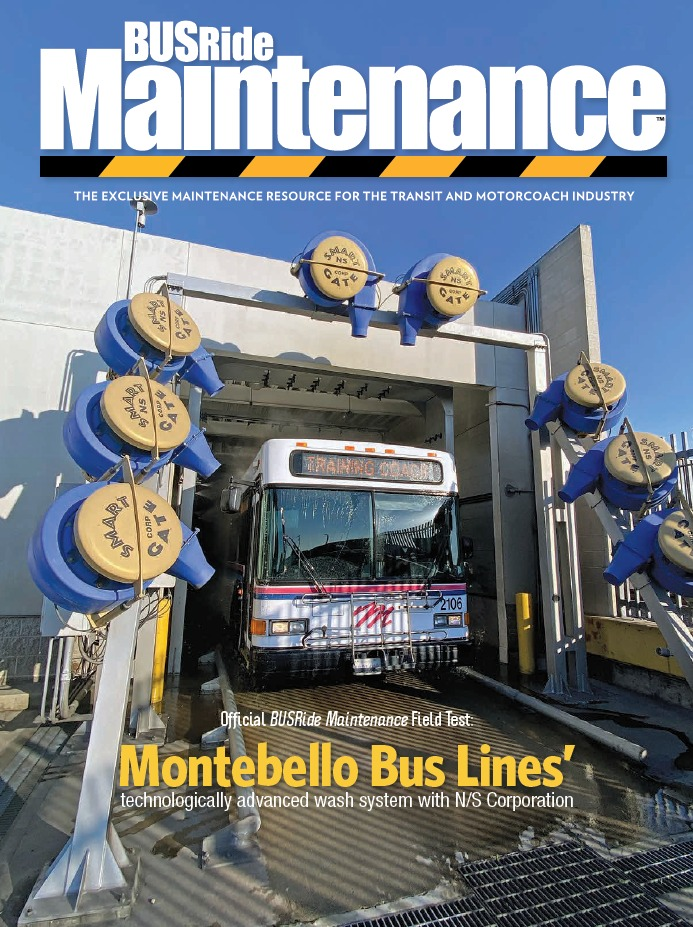 Montebello Bus Lines' technologically-advanced bus wash system with N/S Corporation