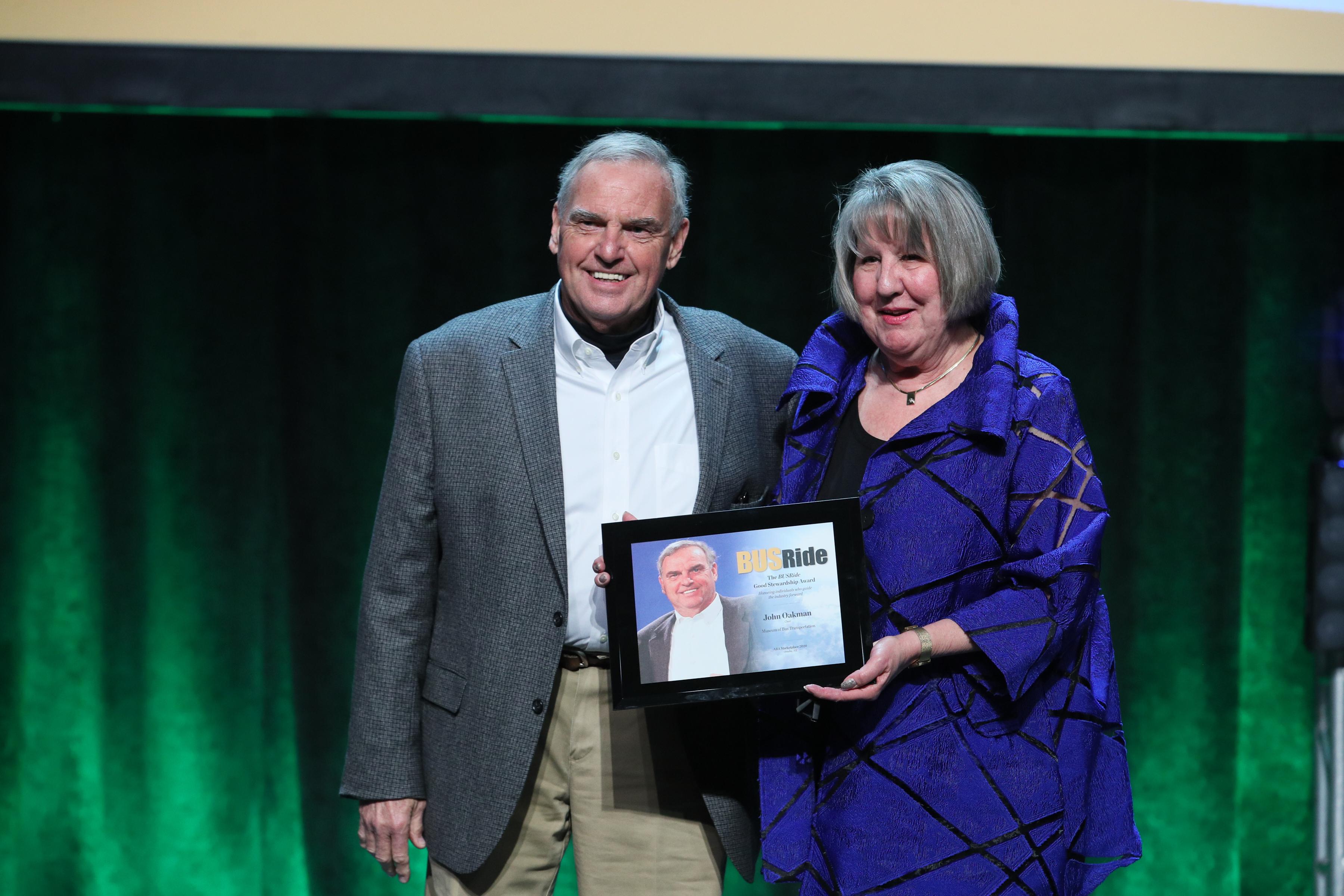 BUSRide honors John Oakman with Good Stewardship Award