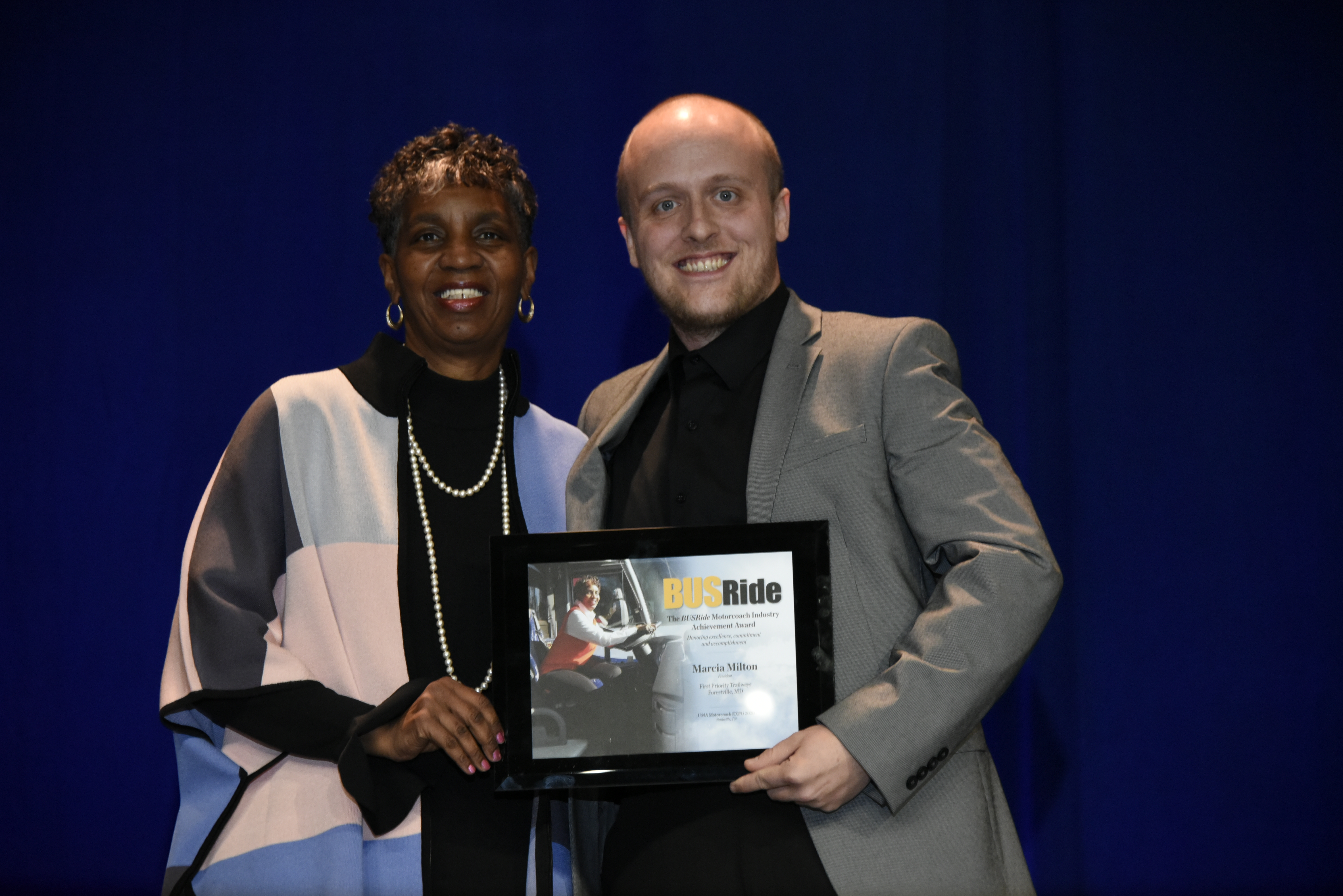 BUSRide honors Marcia Milton for career achievements at Motorcoach EXPO